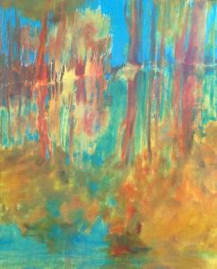 Milin Saezh, 2020, huile sur toile, 81x100cm.